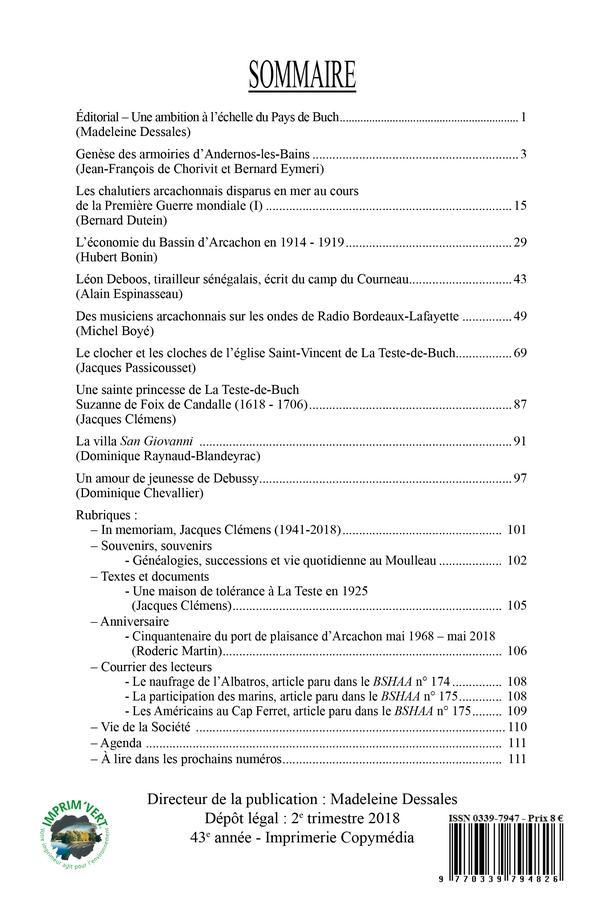 Sommaire Bulletin 176