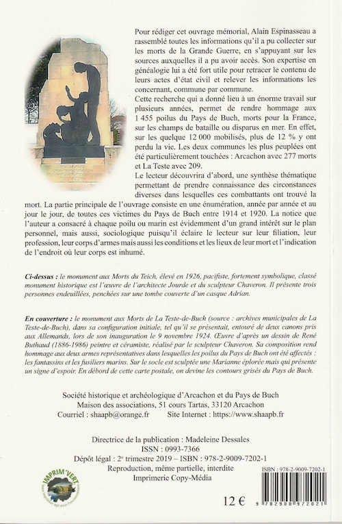 1914-1918 POILUS DU PAYS DE BUCH MORTS POUR LA FRANCE-verso