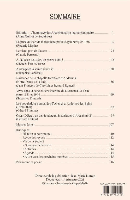 Bulletin 187 Sommaire