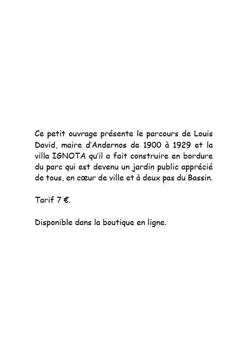 Louis David à Andernos-les-Bains